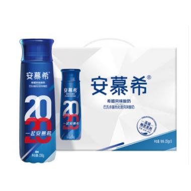 安慕希高端畅饮原味酸奶(230g*10瓶/箱)