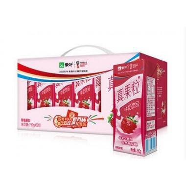 蒙牛真果粒草莓(250g*12)(箱)