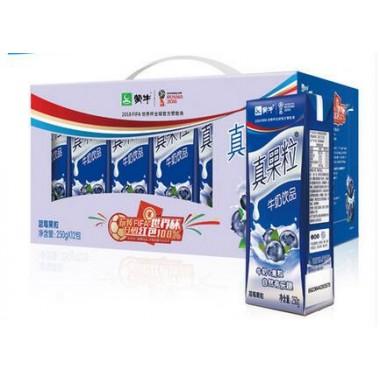 蒙牛真果粒蓝莓(250g*12)(箱)