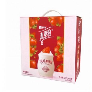 蒙牛真果粒风味酸奶草莓(200ml*10)